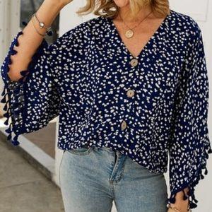 Fring blouse